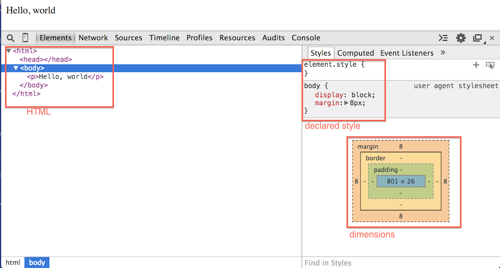 Using the chrome web developer tools part 1 the elements tab