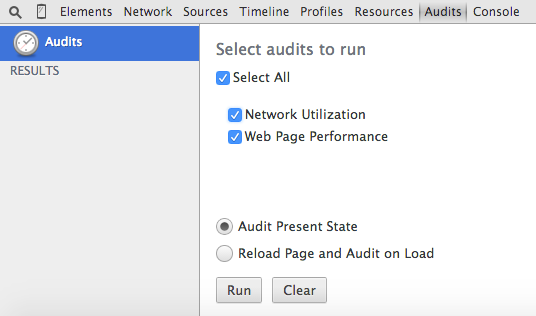 Using the Chrome Debugger Tools, Part 8: The Audits Tab
