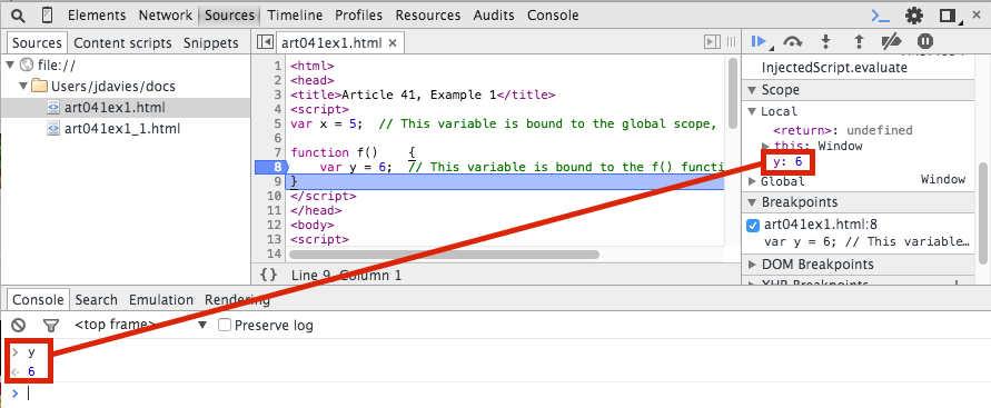 Using the Chrome Debugger Tools, Part 9: The Console Tab